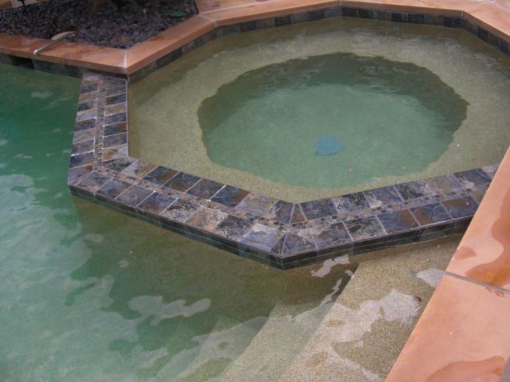 42 best images about 6 in x 6 in stone look on pinterest aquamarines tile design and natural for Swimming pool depth marker tiles