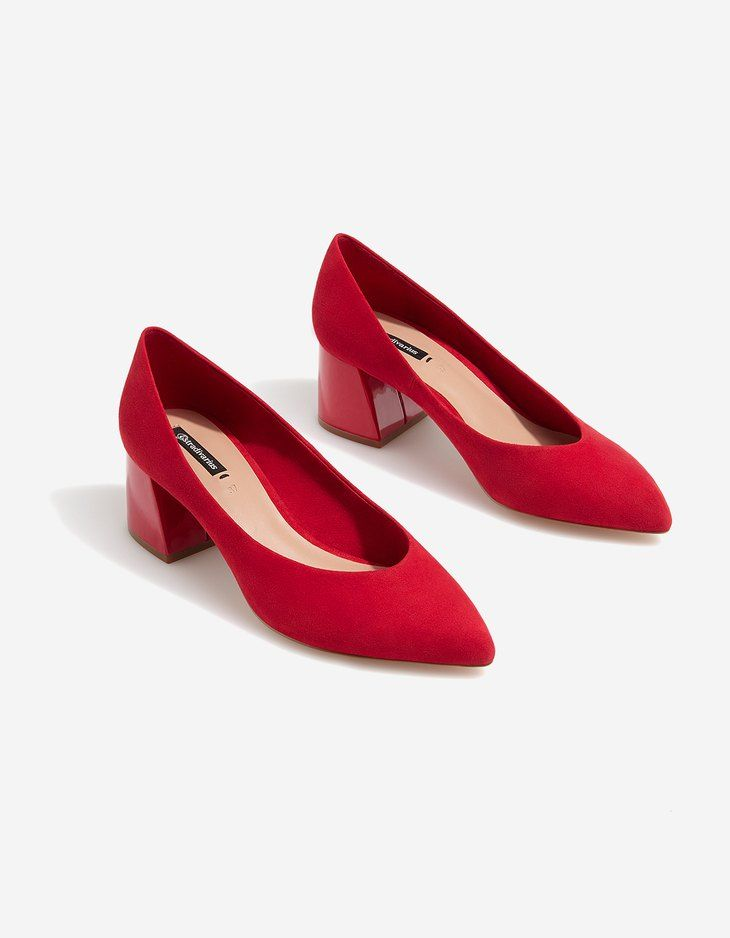 At Stradivarius you'll find 1 Red mid-heel court shoes for just 19.99 United Kingdom . Visit now to discover this and more Just in.