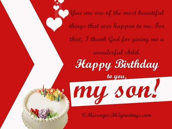 11 Best Happy Birthday Son Images On Pinterest Messages Quotes Wishing Happy Birthday