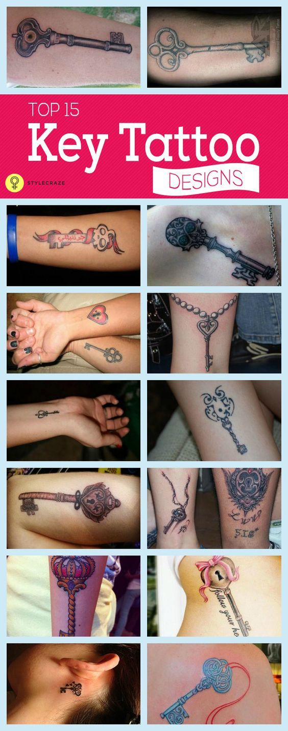 Another most intriguing #tattoodesign is key tattoo. holding a strong sense around it. Here is a list of top 15 key tattoo designs you love to ...