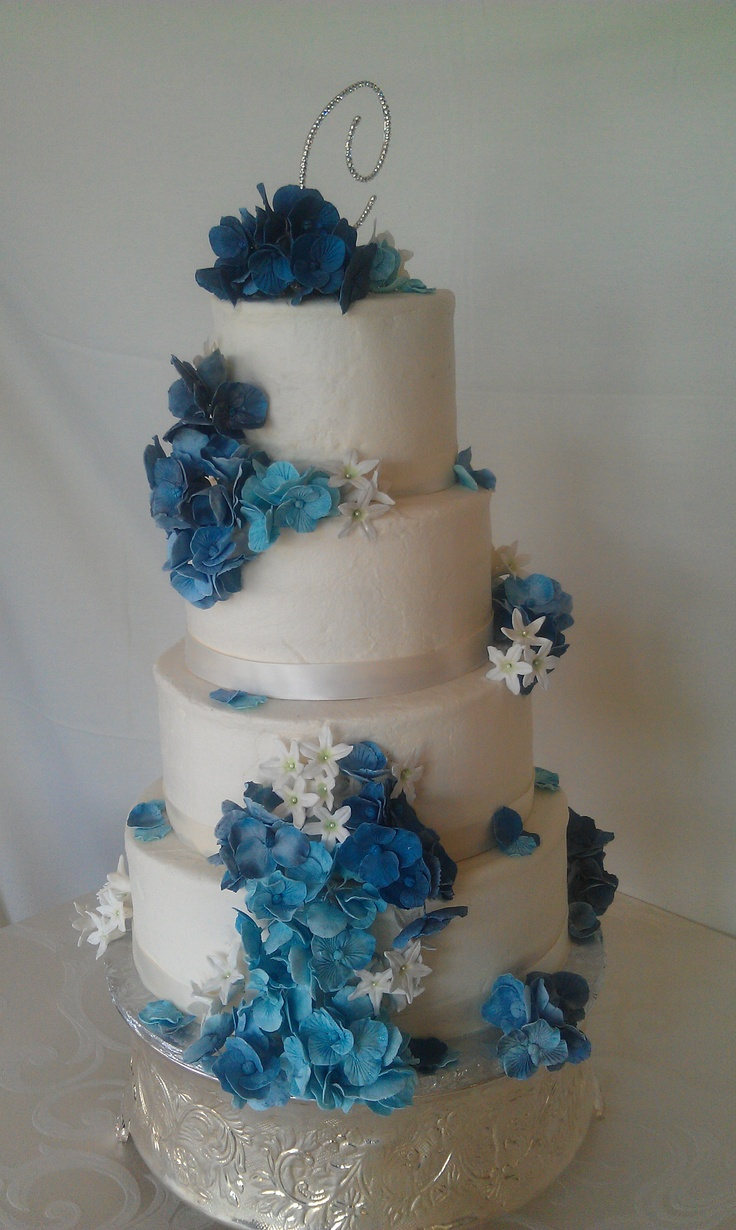 blue hydrangea wedding cakes 17 best images about cake flowers on yellow 11991