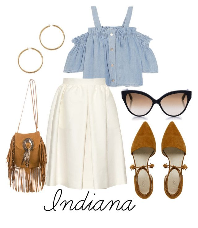 Indiana by ninjasofia on Polyvore featuring Steve J & Yoni P, Vanessa Bruno, Yves Saint Laurent and Cutler and Gross