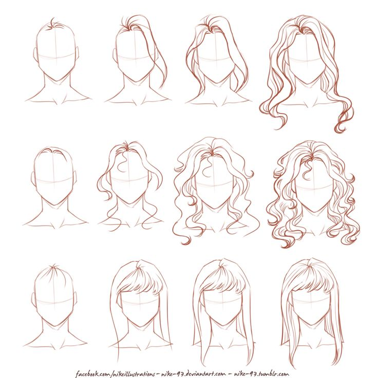 How I draw long hair by Nike-93 on @DeviantArt