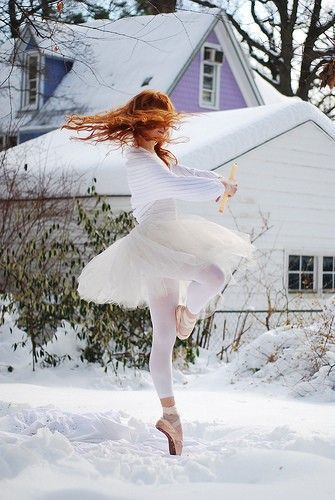 ballet dancing in the snow!