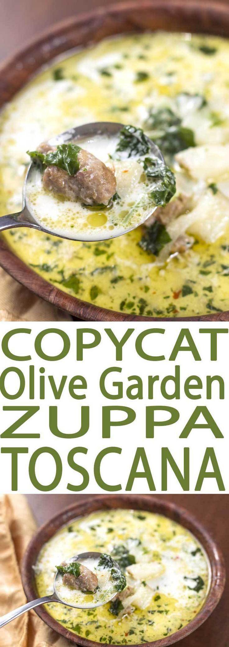 Copycat olive garden zuppa toscana soup recipe olive - Olive garden zuppa toscana copycat ...