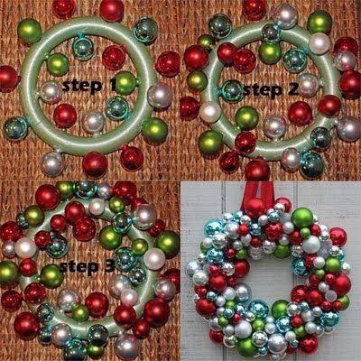 Stunning Views: Christmas Wreath With Christmas Balls!