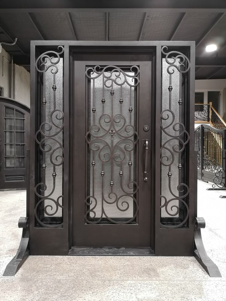 A Unique Wrought Iron Entry Door By Adoore Iron Designs Located In Melbourne Aus Iron Doors Wrought Iron Doors Wrought Iron Entry Doors
