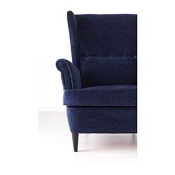 STRANDMON Oorfauteuil, Vellinge blauw donkerblauw - Vellinge donkerblauw - IKEA