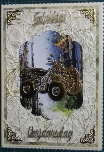 020_A5_Quad Bike, Corners and Sentiment. Handmade by Diane Prinsloo (Lubbe).