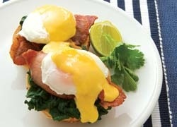 Eggs Bene with Easy Lime Hollandaise on Toasted Parmesan Bagels http://www.foodinaminute.co.nz/Recipes/Eggs-Bene-with-Easy-Lime-Hollandaise-on-Toasted-Parmesan-Bagels#