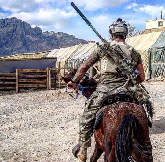 Navy SEAL frogman, in Afghanistan
