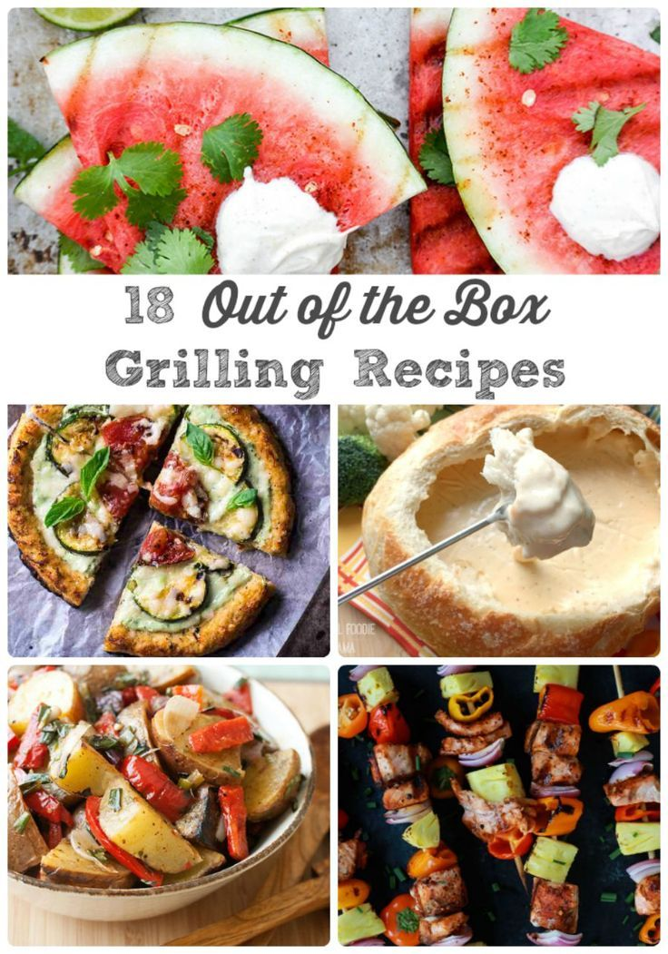 From pizza to fondue to desserts, these 18 Out of the Box Grilling Recipes will have you rethinking those usual burgers & hot dogs.