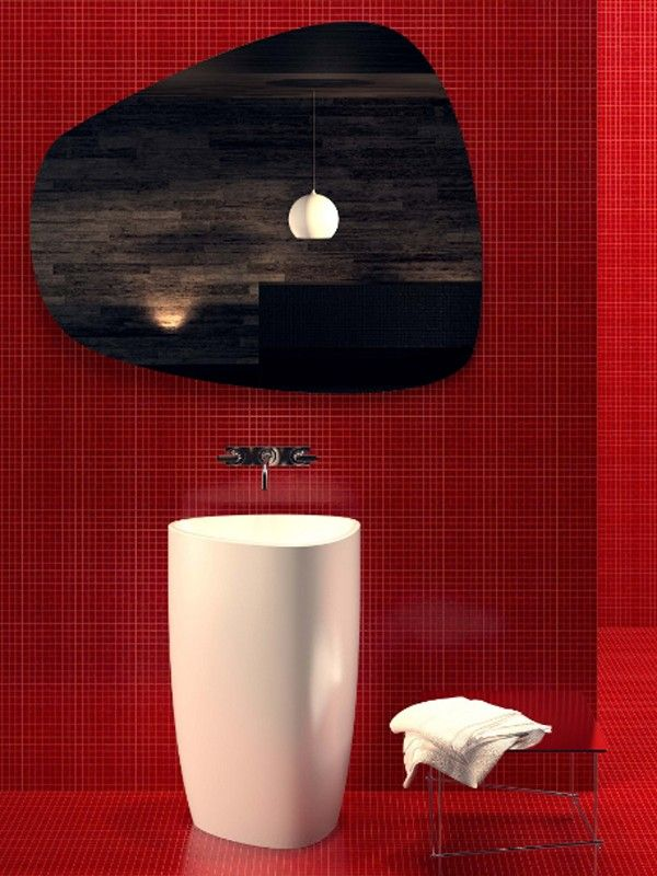 Best Bathroom Red Burgundy Images On Pinterest Bathroom