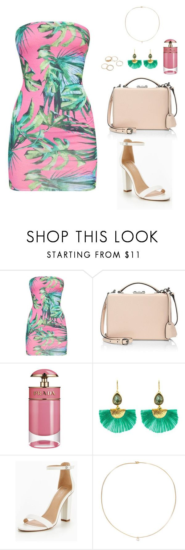 """""""Tropical"""" by hayleyl22 ❤ liked on Polyvore featuring Mark Cross, Prada, Ottoman Hands and Loren Stewart"""