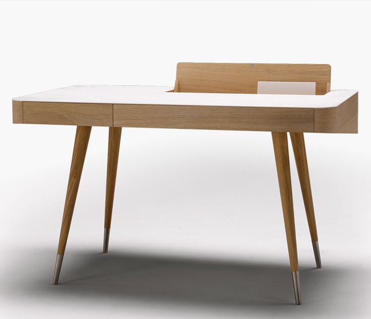 Furniture: Modern Wood Retro Bureau Desk With Corian Top, Contemporary  Writing Bureau, Writing