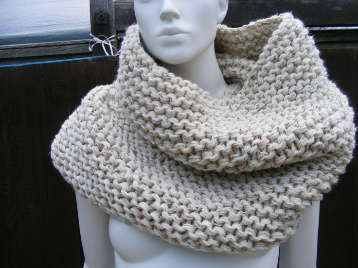 oversized knit scarves infinity scarf oatmeal large cowl ...