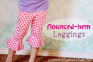 Pattern Hack: Double Ruffle Capris (tutorial and pattern) - Scattered Thoughts of a Crafty Mom