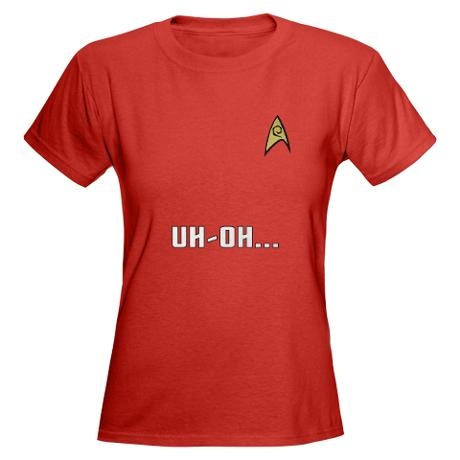 Star Trek Women's Red Shirt: Uh-Oh! #cafepress