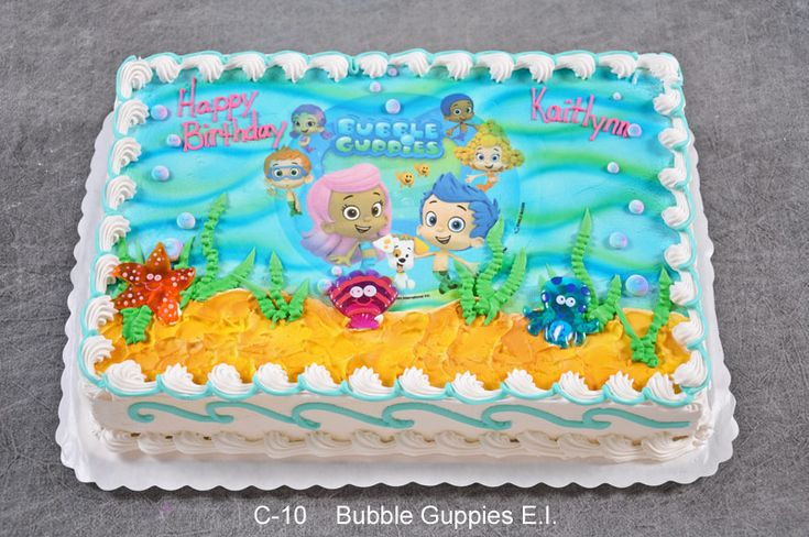 bubble guppies cake | Pin Bubble Guppies Cupcakes Picture Cake on Pinterest