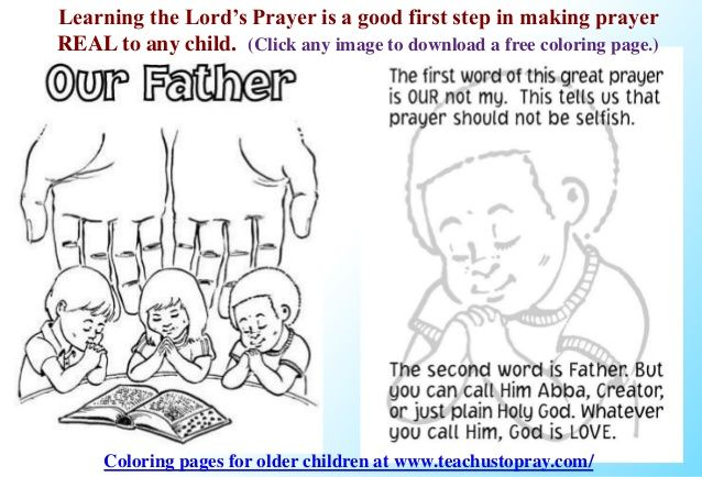 The Lord's Prayer booklet for children and parents