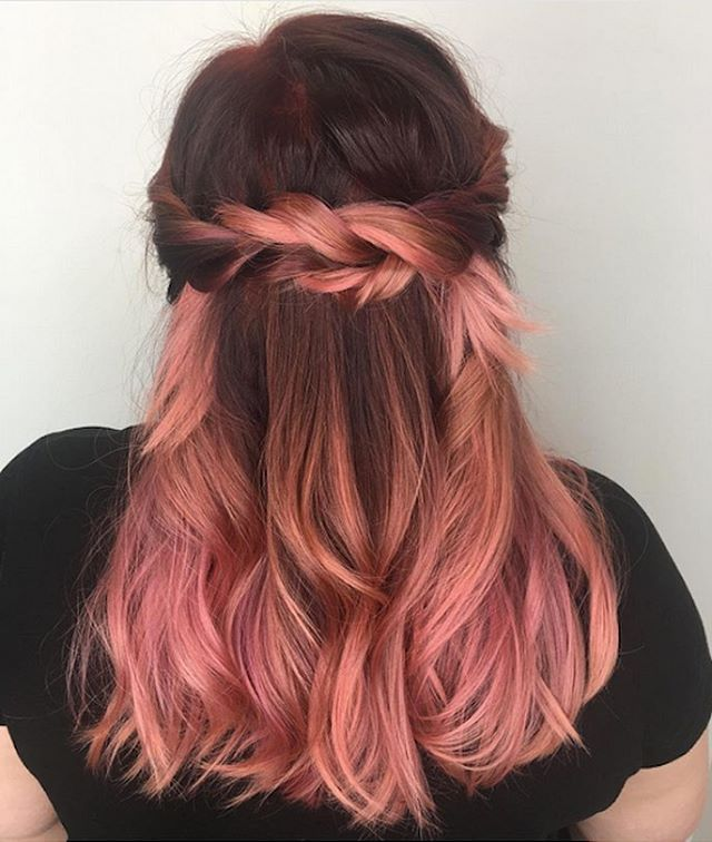 Peachy tones are all the rage  This color was achieved by mixing Neon Peach and Bunny #UnicornHair by @bree.little