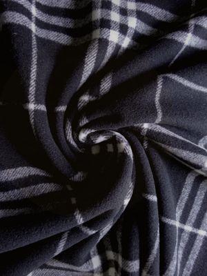 Fabric Mart :: Fabrics P-Z :: Wool :: Black/ Cream Plaid Melton Wool Blend Coating 60W