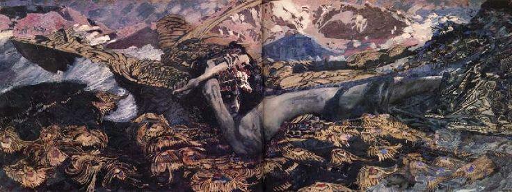 The demon tumbled, Mikhail Vrubel