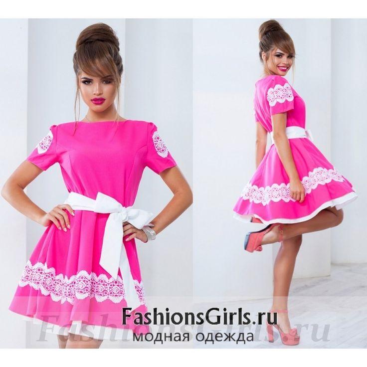 Хлопковое платье с двойным низом