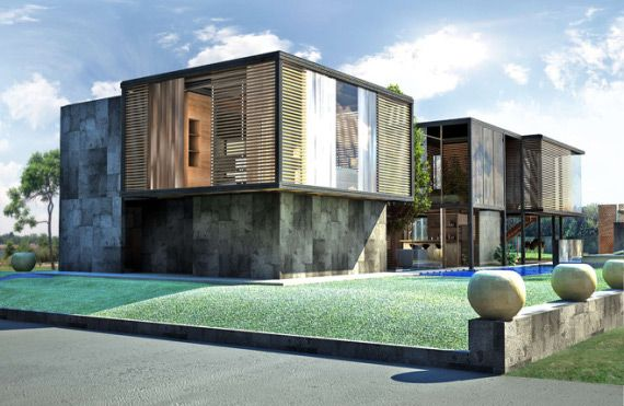 How cool is this modular home? It's called a Jeriko House Prefab! I think it's fabulous!