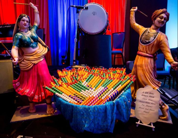 Colorful Chicago Gujarati Indian Wedding decor