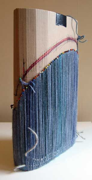 Ruth's weaving projects  pebble bag