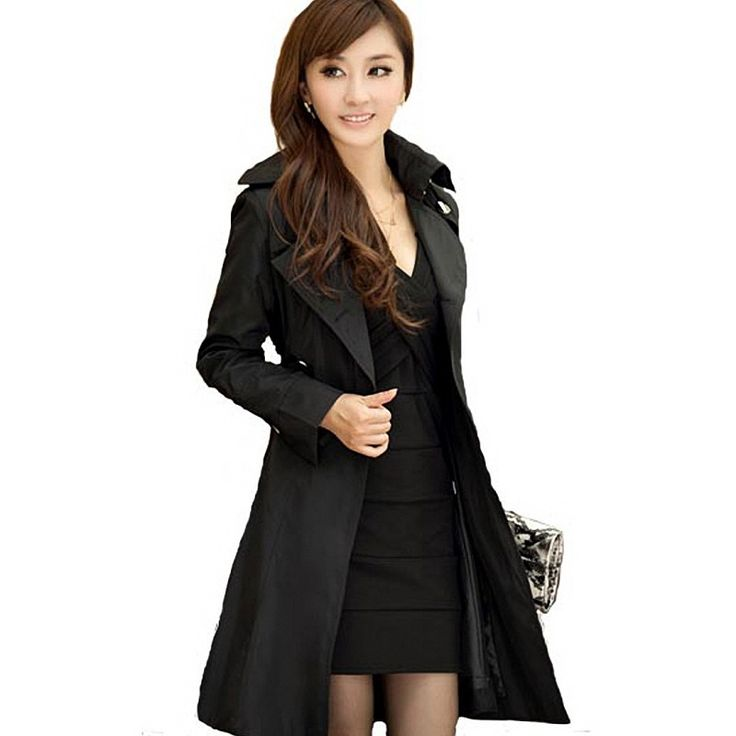 23 best Spectacular Black Trench Coat Women images on Pinterest