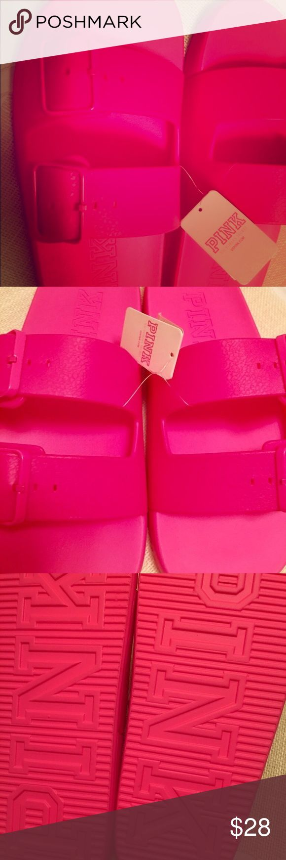 PINK Slippers size 8 😍😍😍 PINK Slippers size 8 😍😍😍 like Medium PINK Shoes Slippers