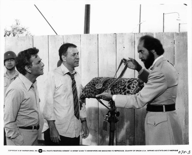 Peter Falk, Alan Arkin, and Richard Libertini in The In-Laws (1979)
