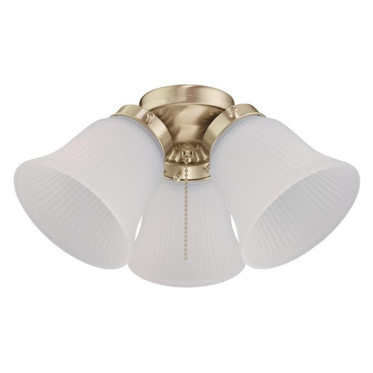 Westinghouse 3 Light LED Cluster Ceiling Fan Light Kit, Polished Brass