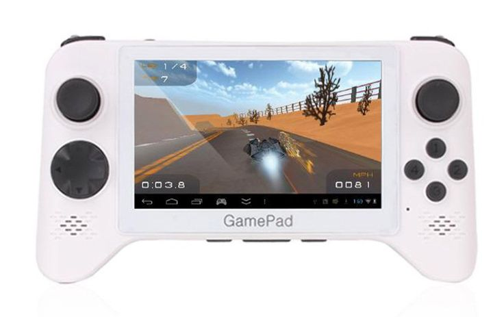 G5A Android Gaming Tablet 5 Inch Hand Grip by GPD. Gaming console with great specification, comes with Android 4.2 and preinstalled emulators that gives you access to loads games from PSX, NES, SNES, SEGA, Nintendo 64, Game Boy. And the battery life up to 1 hours, now you can play your game everywhere. http://www.zocko.com/z/JHg7b
