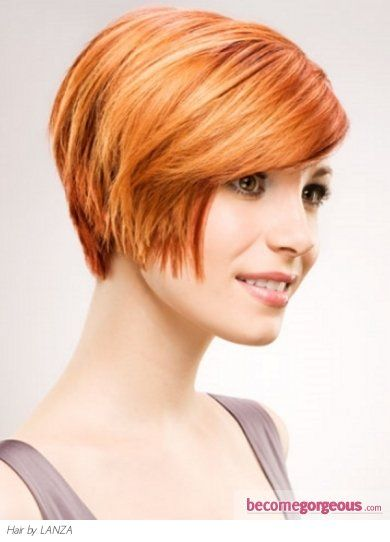 Love the color do not like the heavy rounded pixie