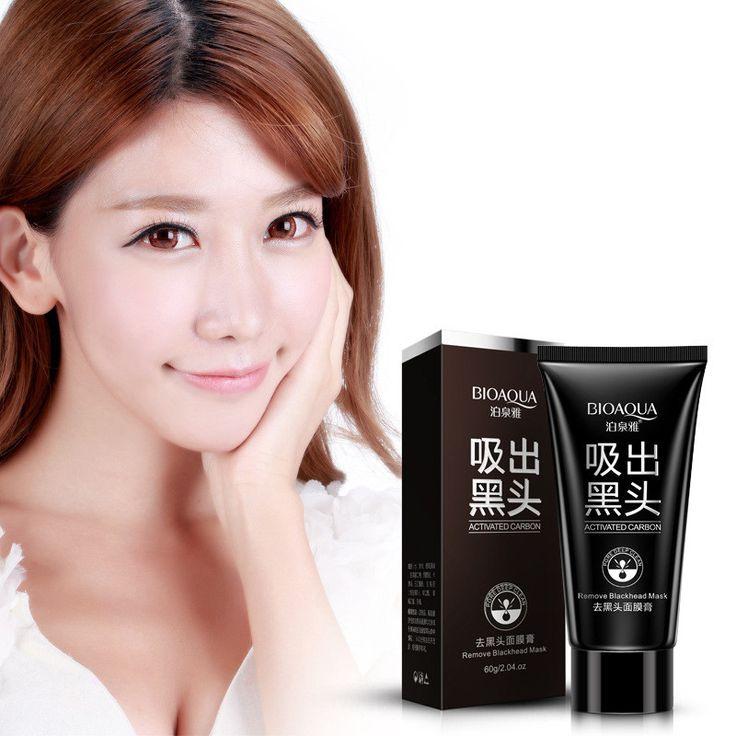 BIOAQUA Huidverzorging Zwarte modder Facial gezichtsmasker Diepe Reiniging zuiverende Verwijderen mee-eter gezichtsmasker aardbei neus Acne remover