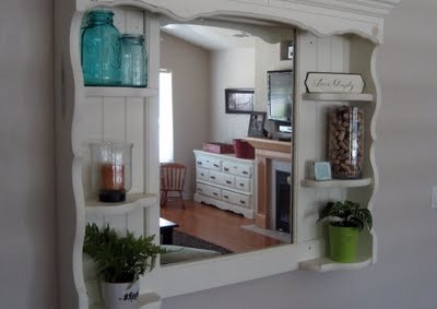 top part of a thrift store hutch redo