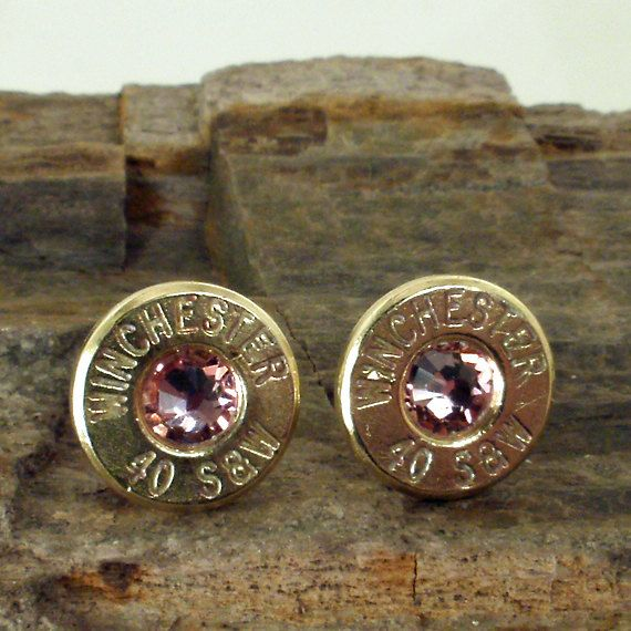 Winchester 40 S Bullet Earrings  Ultra Thin  by ShellsNStuff, $19.99. Bought these- thought they were so unique! Got them in aquamarine, too :)