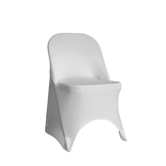 Spandex Folding Chair Cover White | Stretch Chair Covers