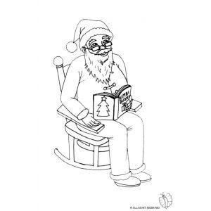 Disegno di Babbo Natale Sulla Sedia da colorare per ...