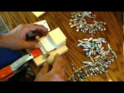 ▶ Paper Bead Roller Rolling Machine - Simple and Controlled - YouTube    THIS MAN IS A PAPER BEAD GENIOUS ! This man's wife loves making paper beads without the strain of her wrist so he invents a amazin' lil machine for her thats just the cutest thing...