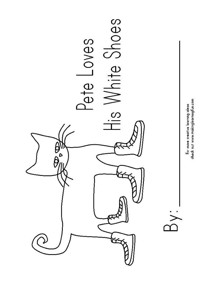 templates Emergent Reader Pete the Cat (Big)