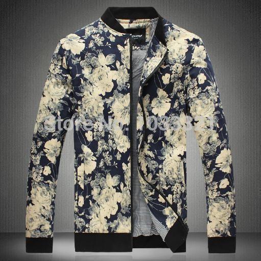 Купить товарОсень марка корейский версии молодежная мужчины в куртка хлопок вилочная часть воротник мандарин цветочный принт куртка в категории Курткина AliExpress.    Уважаемый покупатель, горячо Добро пожаловать Энсон магазин модной одежды!