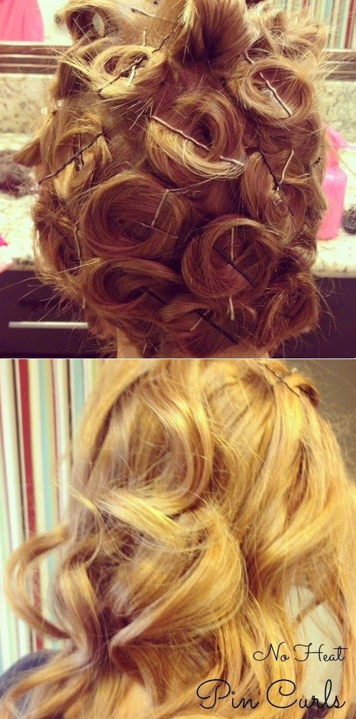 How To Beauty : Heatless Curls Using Bobby Pins #hair_curling