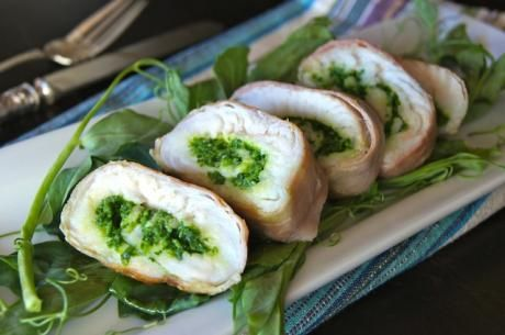 Snow Pea Shoot Prosciutto-Wrapped Rockfish | www.jade88.com  #peashoots #eatyourgreens #Greensrecipes