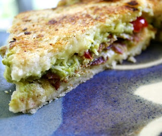 Chocolate Therapy: Bacon Guacamole Grilled Cheese Sandwich