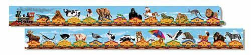 I love this puzzle. My 2 year old and 7 year old build the train together. It is very well made and 10 ft long! Used for letter and animal recognition.