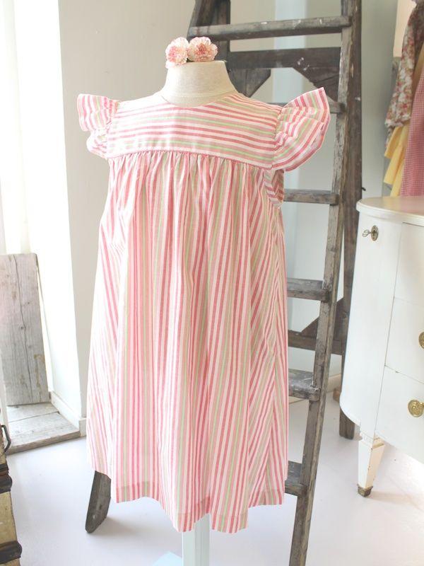 Madickenklänning rosa randig - 100 Years